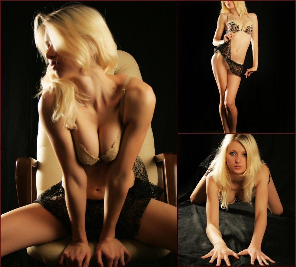 Photoshoot with blonde model named Nika - 27