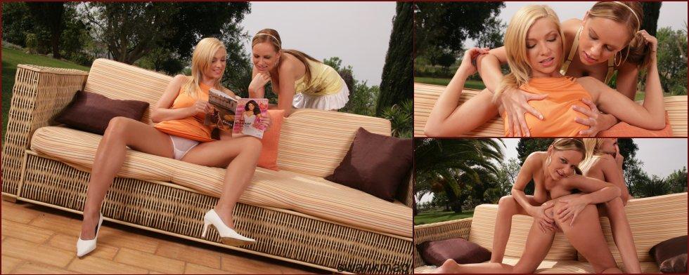 Two busty chicks outdoor - Karolina & Carmen Gemini - 33
