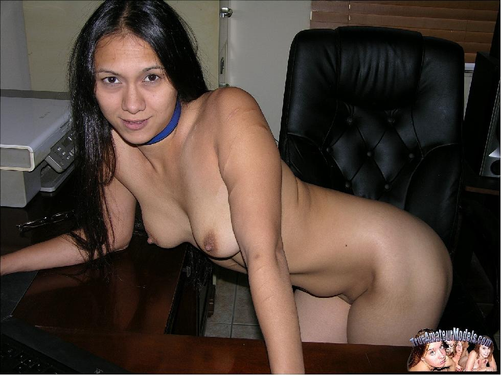 Long-haired Asian girl is posing at home - Kai - 8