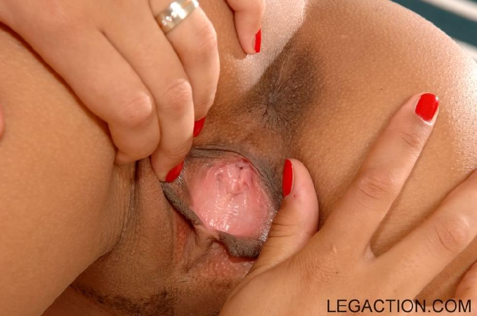 Hot ebony is opening her pussy - Adanna Royal - 12