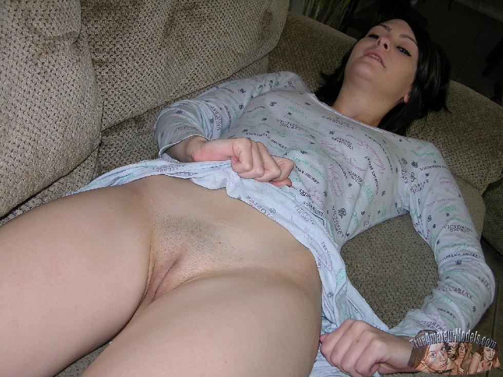 Young brunette is posing at home - Chloe - 5
