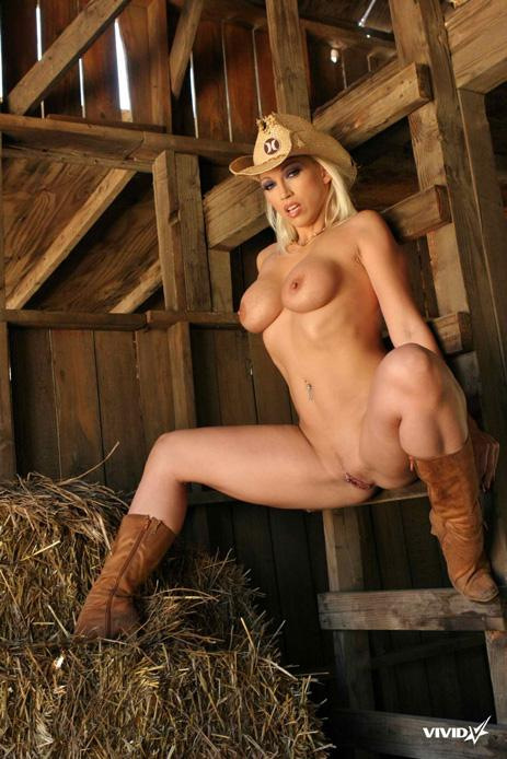 Busty cowgirl is stripping in the barn - Nikki Hunter - 15