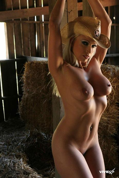 Busty cowgirl is stripping in the barn - Nikki Hunter - 19