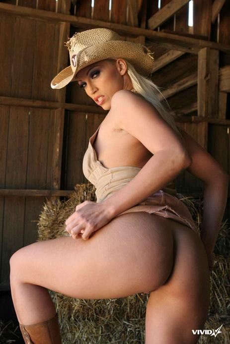 Busty cowgirl is stripping in the barn - Nikki Hunter - 4