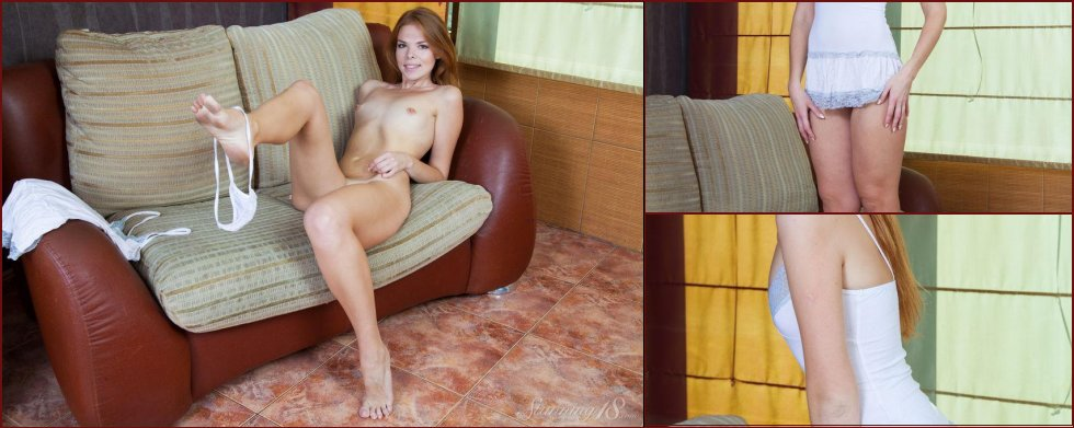 Red-haired Natalie shows sweet pussy - 81