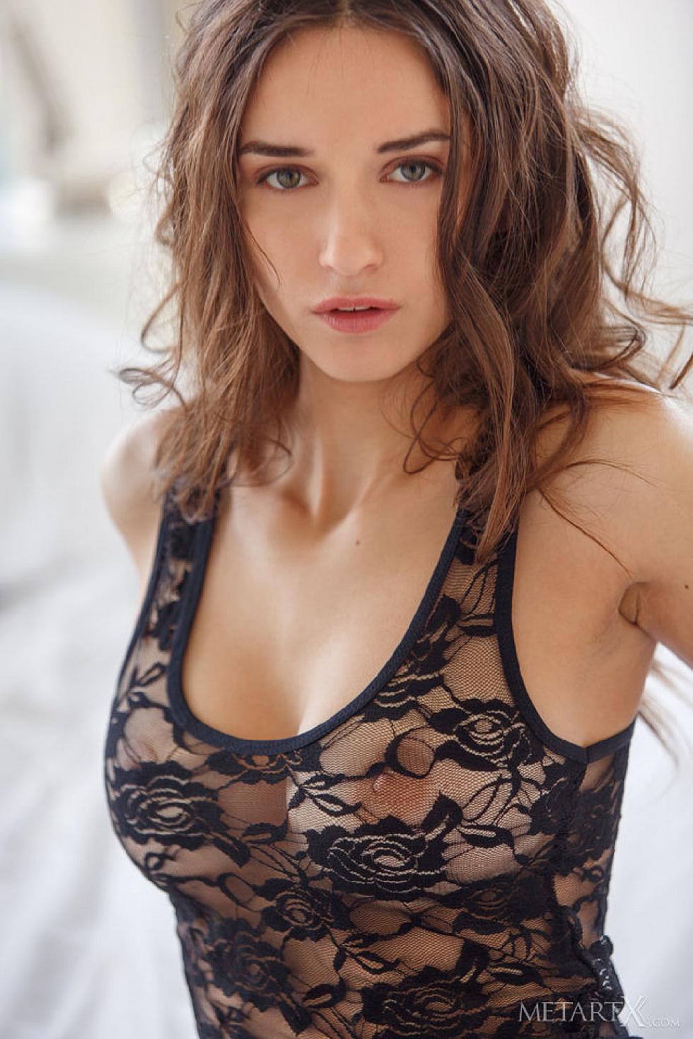 Gorgeous Gloria Sol is tempting in her bedroom  - 1