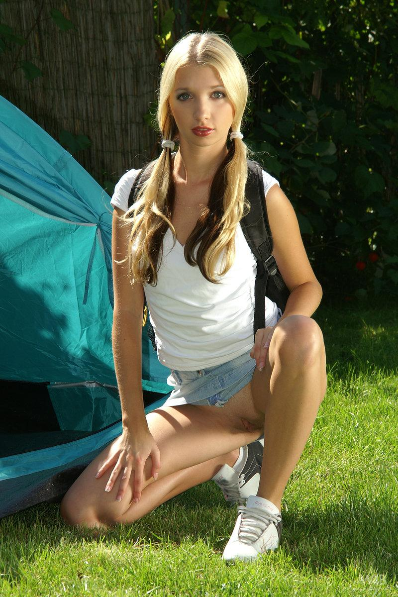 Beatiful young girl on the camp - Mina - 3