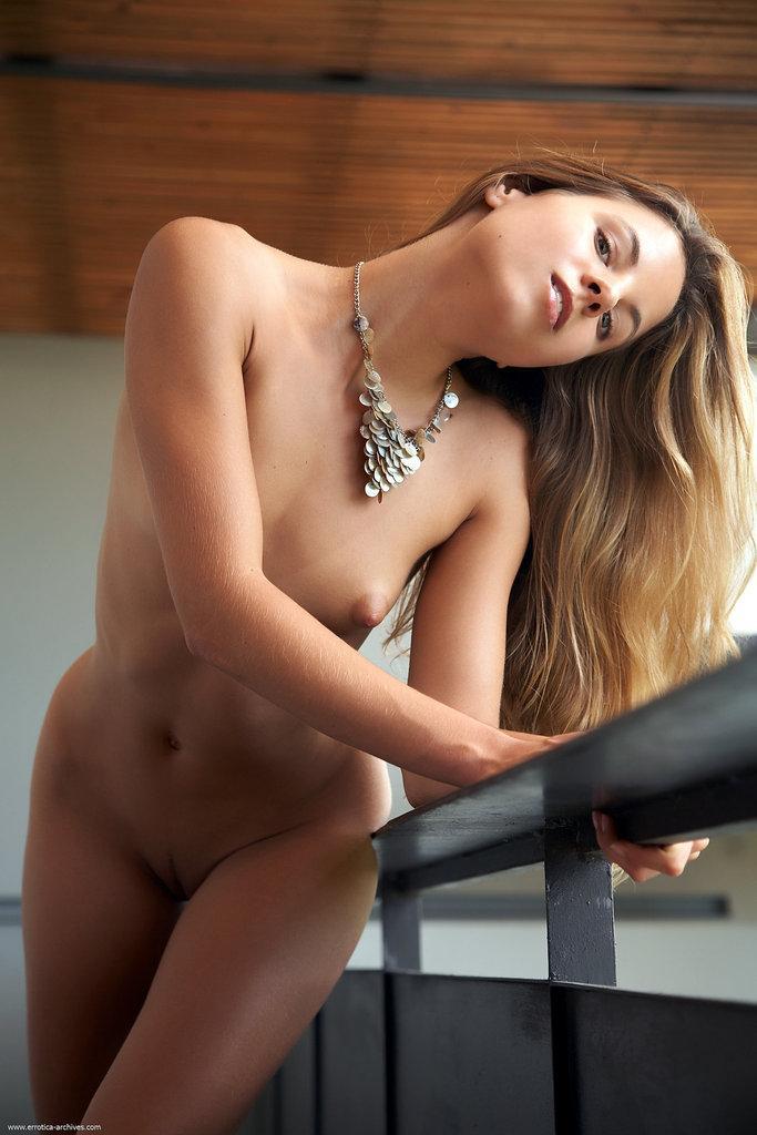 Naked young girl is posing on the balcony - Antea - 13