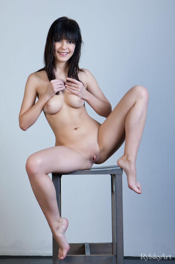 Naked Zelda is posing on the chair - 13