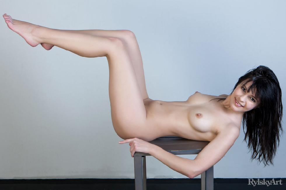 Naked Zelda is posing on the chair - 14