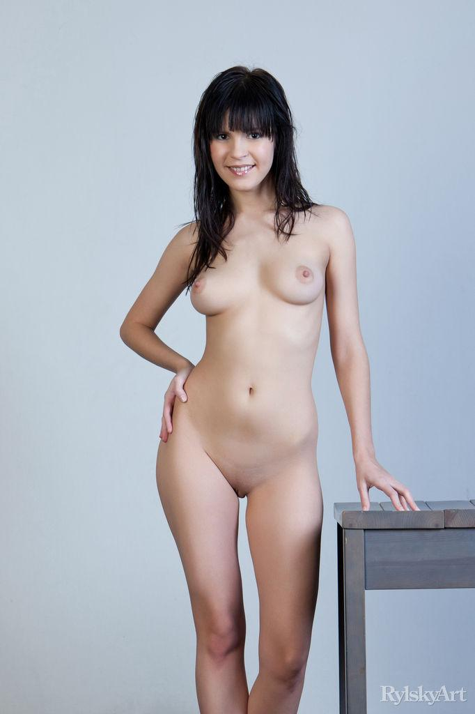 Naked Zelda is posing on the chair - 6
