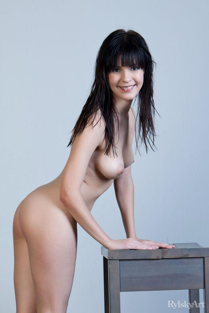 Naked Zelda is posing on the chair - 8