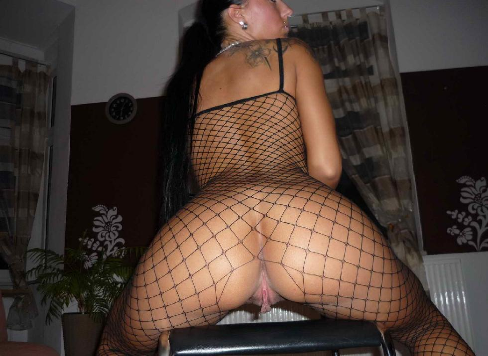 Horny amateur in sexy bodystocking - 6