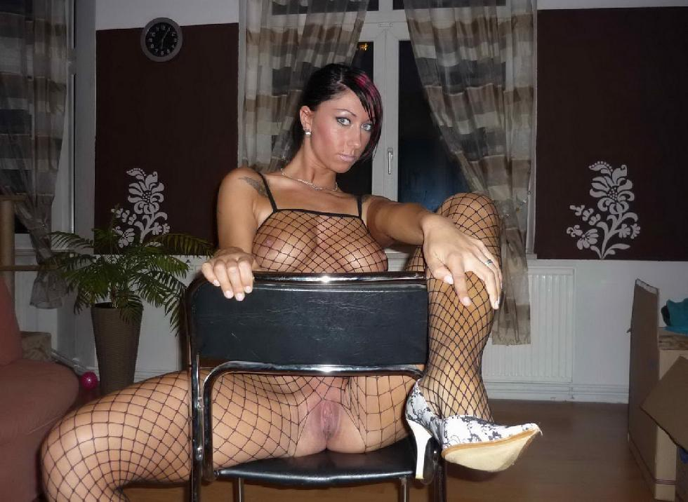 Horny amateur in sexy bodystocking - 8