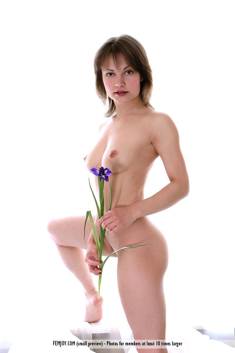 Young naked girl with a flower - Galina - 2