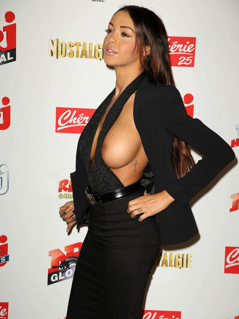 Nabilla Benattia is showing her tit and nipple - 2