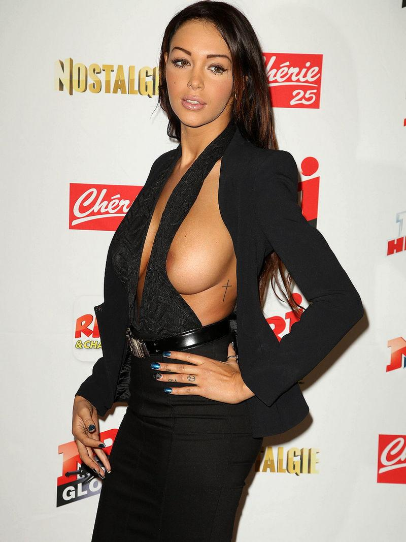 Nabilla Benattia is showing her tit and nipple - 3