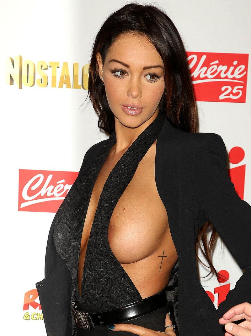 Nabilla Benattia is showing her tit and nipple - 4