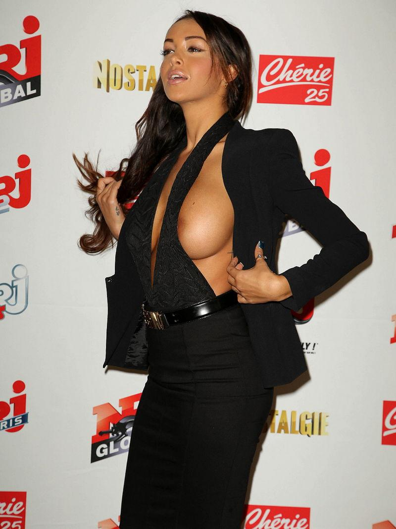 Nabilla Benattia is showing her tit and nipple - 6