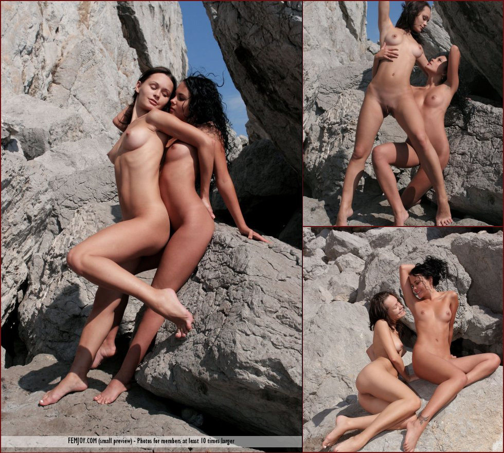 Two naked girls on the rocks - Armida & Olivia - 2
