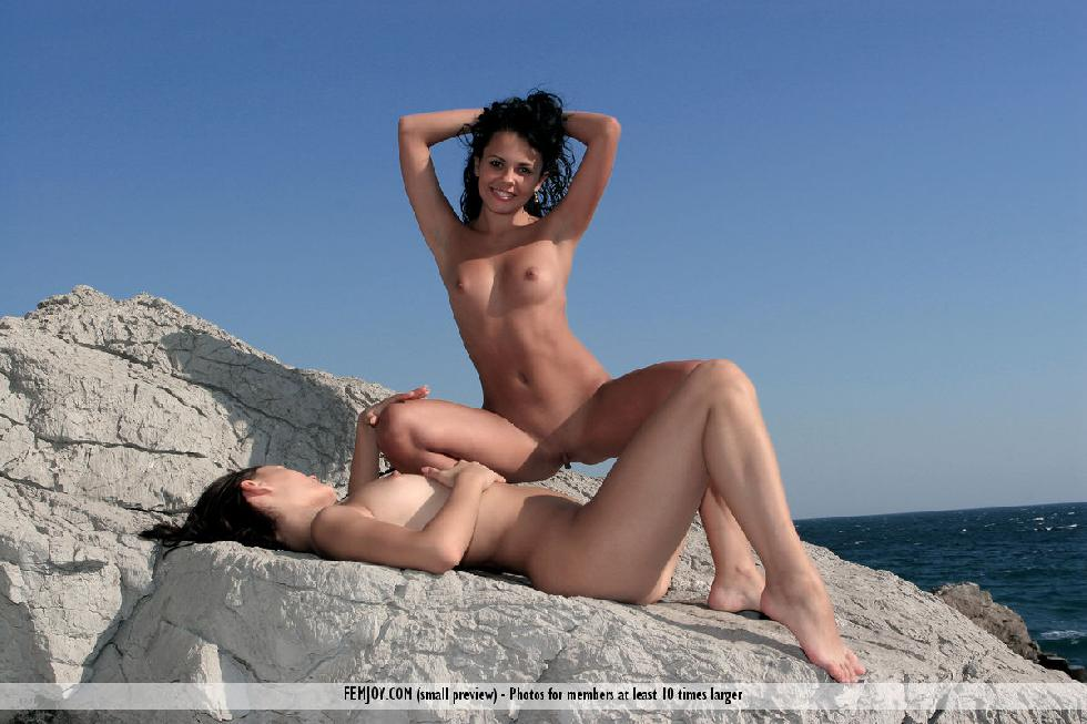 Two naked girls on the rocks - Armida & Olivia - 12