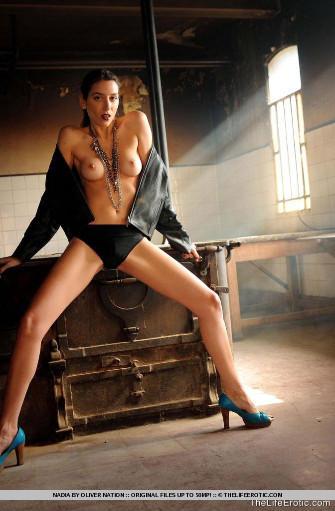 Nadia is posing in old factory - 2