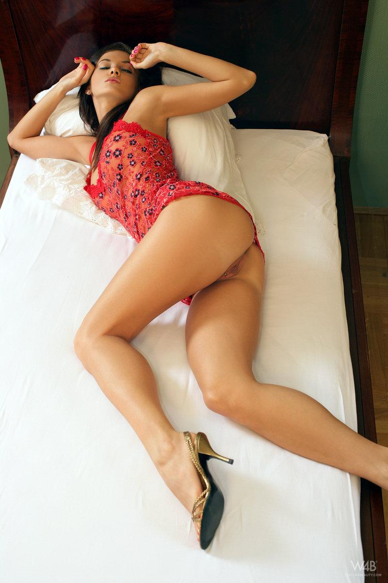 Wonderful Ivette Blanche is tempting on the bed - 4
