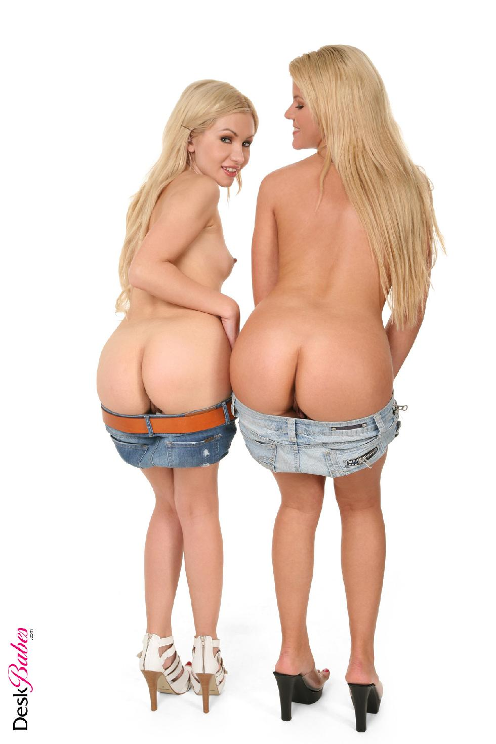 Two blondes lesbians named Zorah White and Sasha Rose - 6