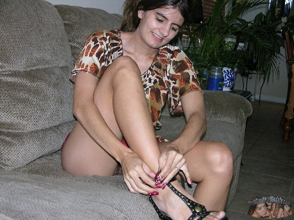 Nissa is spreading legs and showing hairy pussy - 6