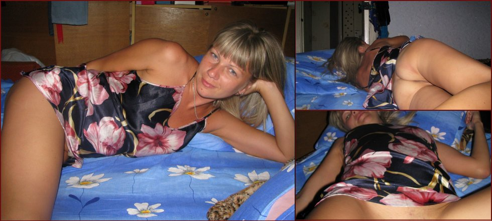 Tanned wife is showing her meaty pussy - 10