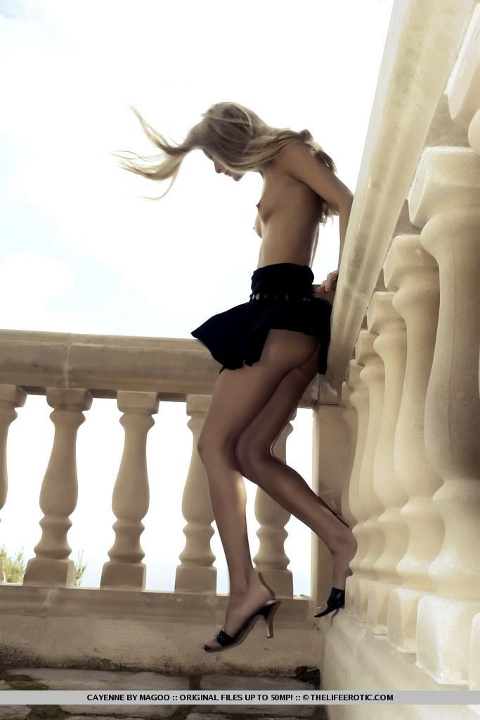 Slim and leggy blonde named Cayenne - 7