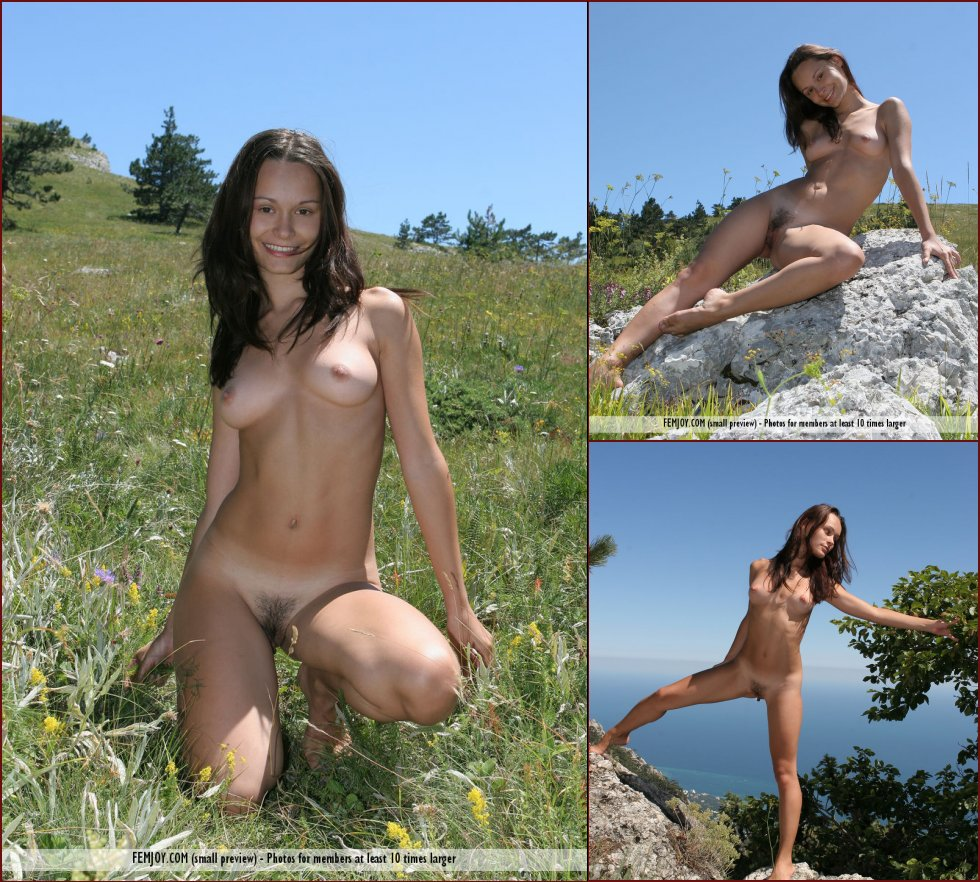 Naked Olivia loves nature - 95