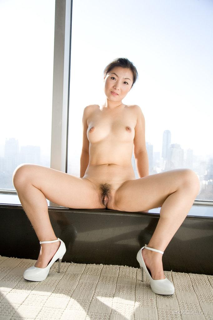 Asian is showing her hairy pussy - Ada - 14