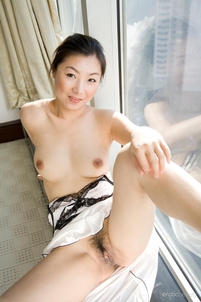 Asian is showing her hairy pussy - Ada - 9