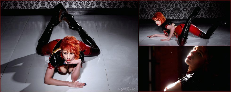 Ulorin Vex is posing in black high boots - 34