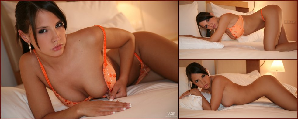 Amazing Monika Vesela is posing on the bed - 8