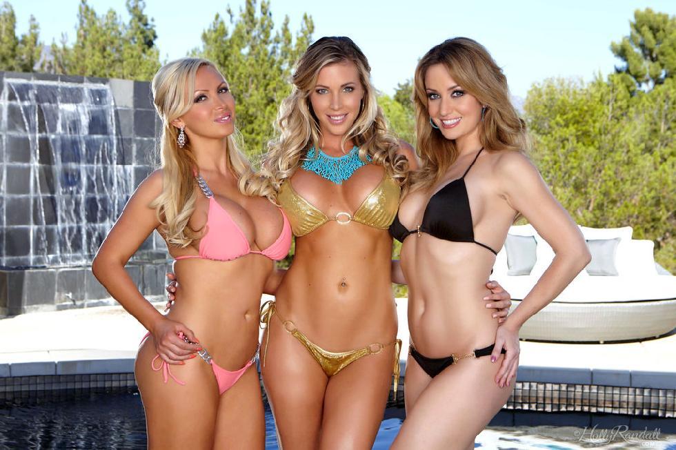 Three busty chicks - Samantha Saint, Nikki Benz & Angela Sommers - 4