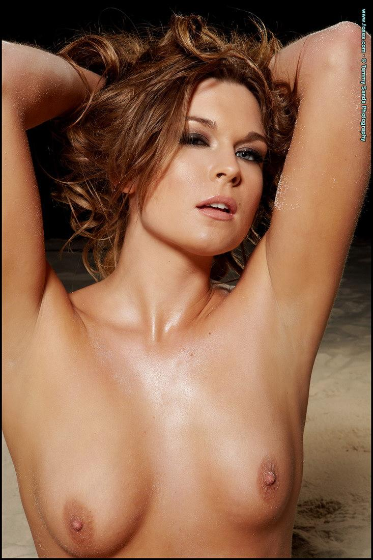 Naked Adrienne Manning on the beach - 2