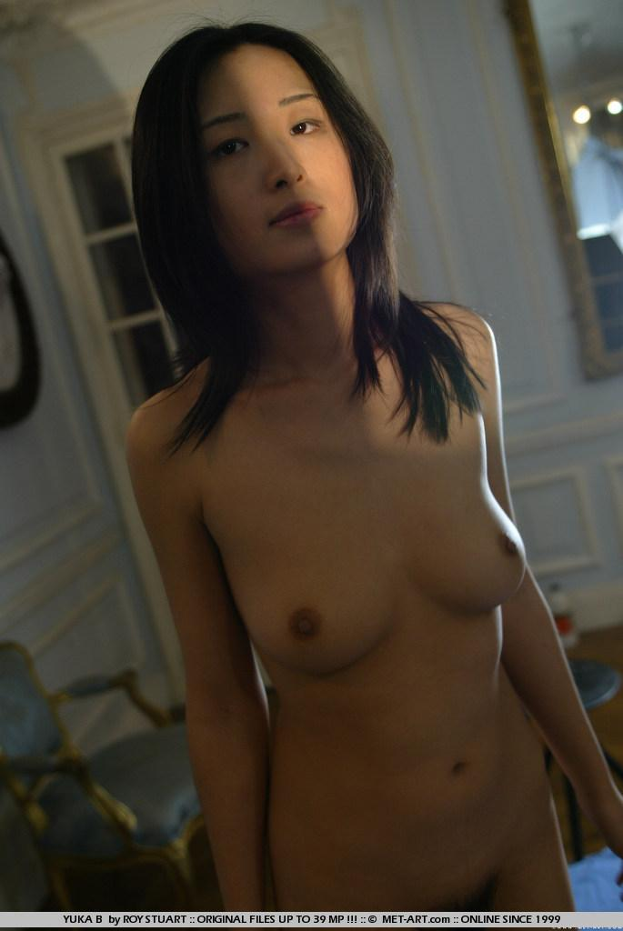 Asian schoolgirl shows hairy pussy - Yuka - 14