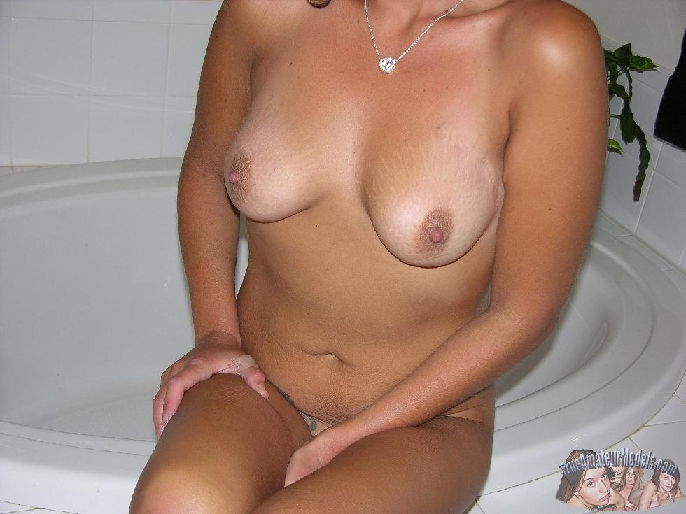 Tanned wife is showing her body - Katherine - 15