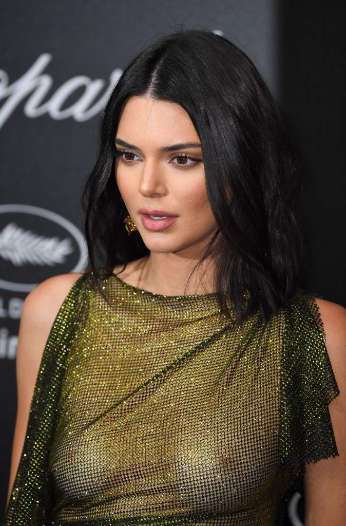 Kendall Jenner is showing tits in transparent dress - 10