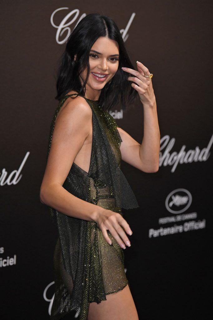 Kendall Jenner is showing tits in transparent dress - 12