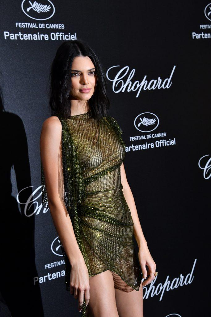 Kendall Jenner is showing tits in transparent dress - 14