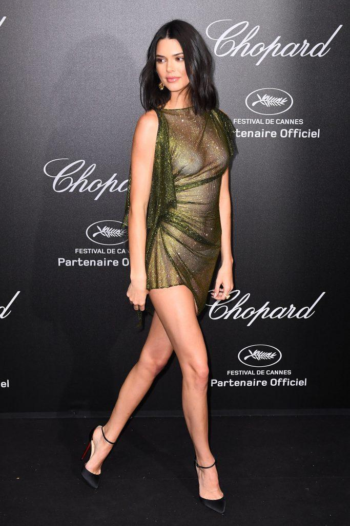 Kendall Jenner is showing tits in transparent dress - 18