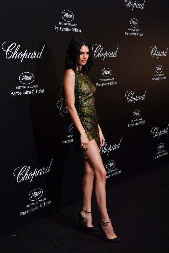 Kendall Jenner is showing tits in transparent dress - 19