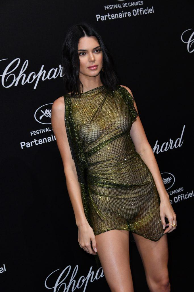 Kendall Jenner is showing tits in transparent dress - 20