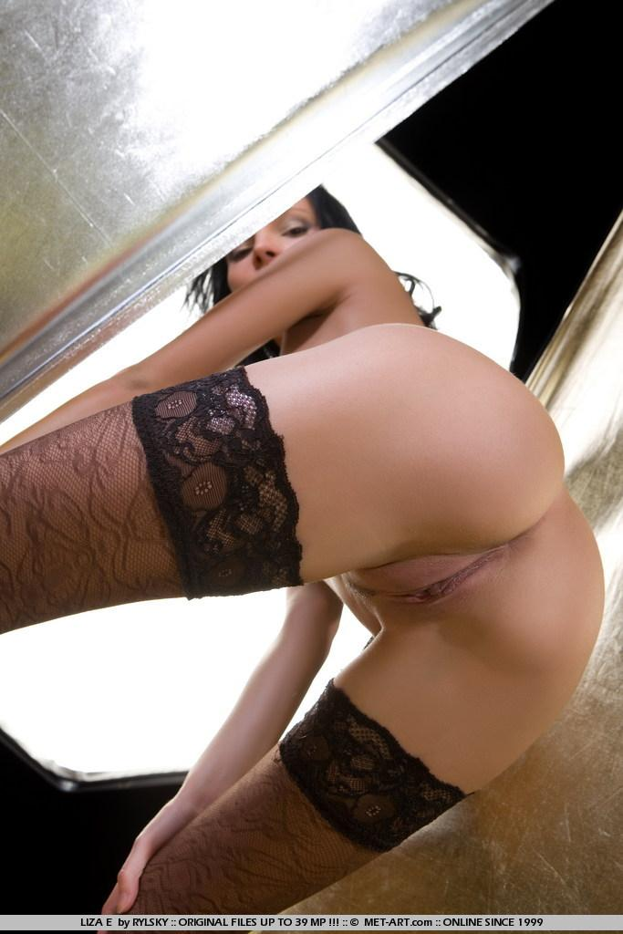 Sensual Liza in black stockings - 1