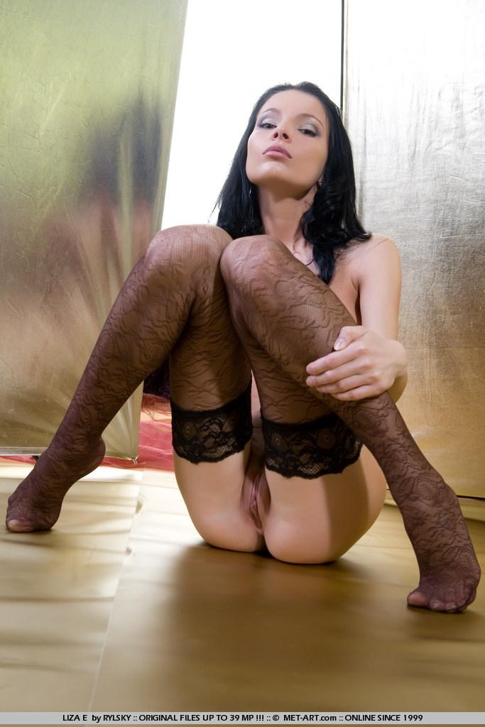 Sensual Liza in black stockings - 13