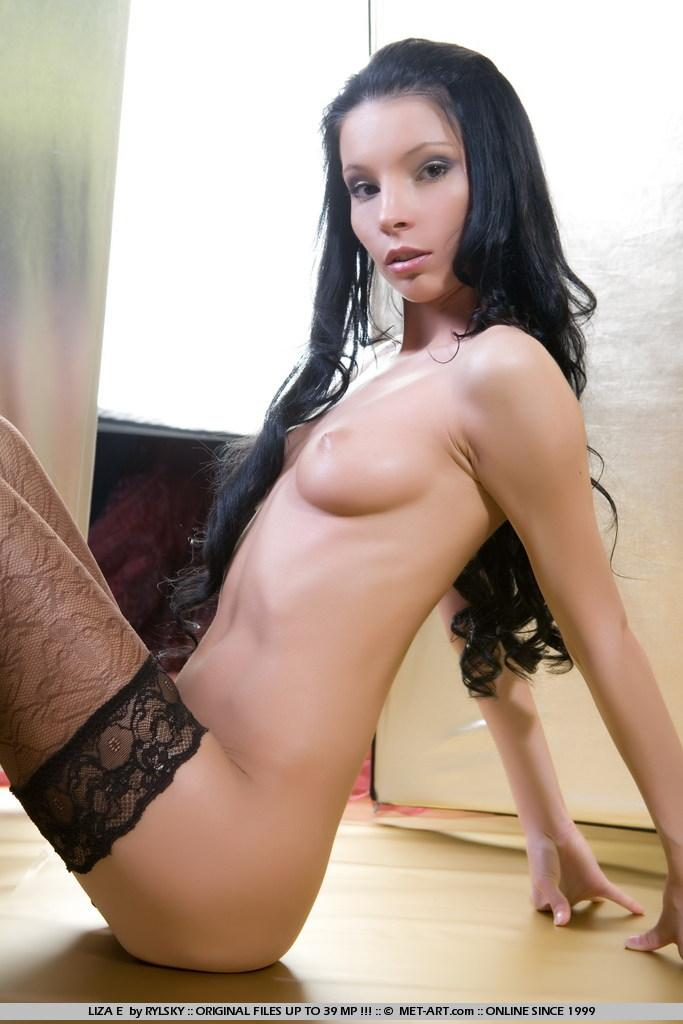 Sensual Liza in black stockings - 14