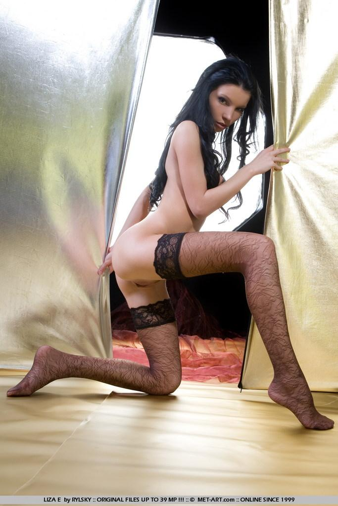 Sensual Liza in black stockings - 4